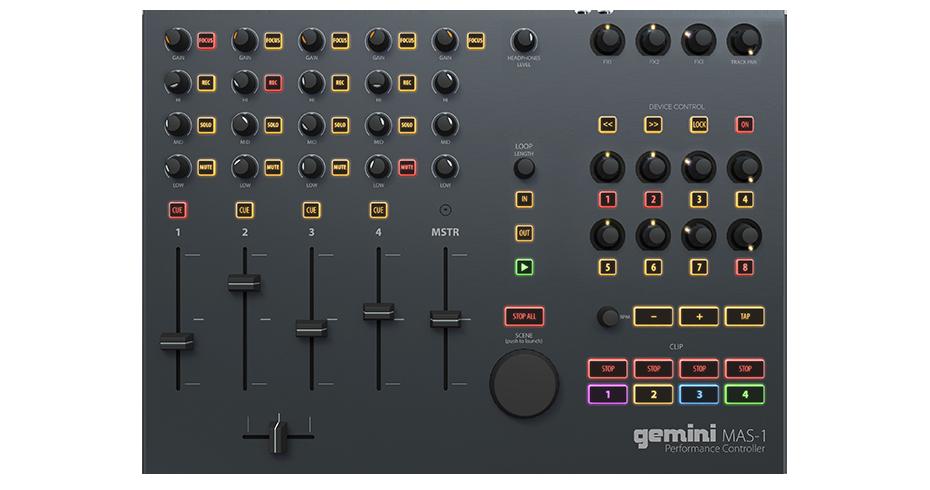 controller professionale per Ableton Live Gemini MAS-1