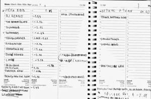 Organizzazione delle tracce per registrare
