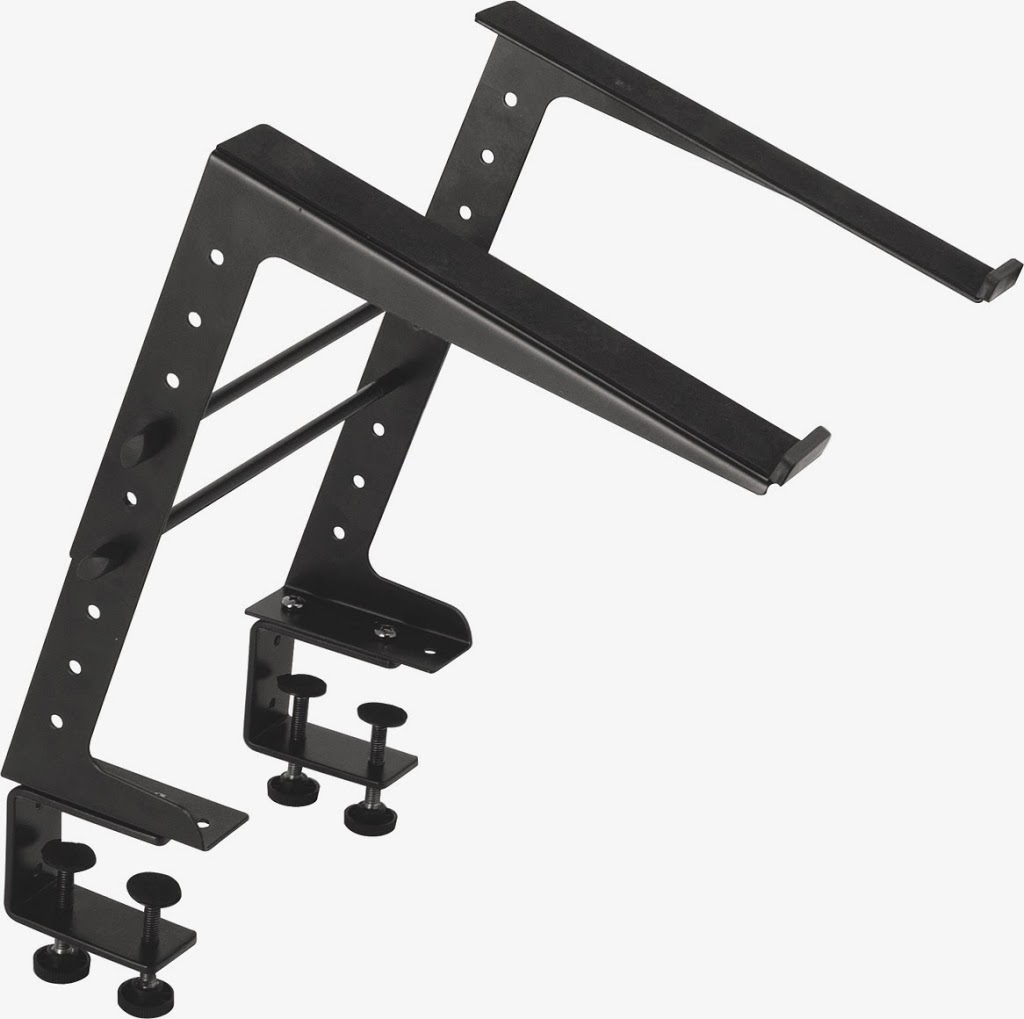laptop stand con clamps