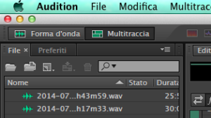 audition file mixato in usb