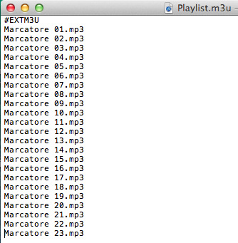 How to make an m3u playlist file