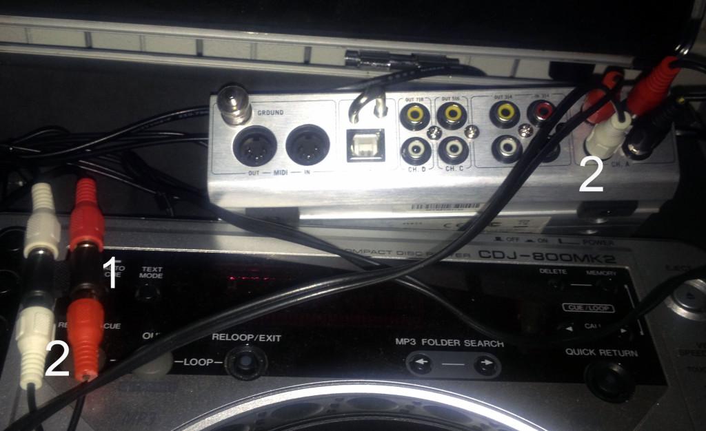 timecode mixer incassato nella consolle