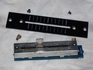 smistare componenti del crossfader
