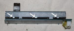 crossfader manutenzione, piedini da smontare