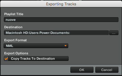 Exporting Tracks
