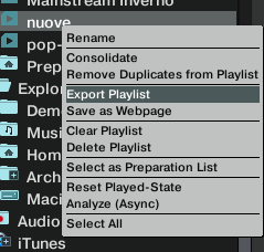 export playlist