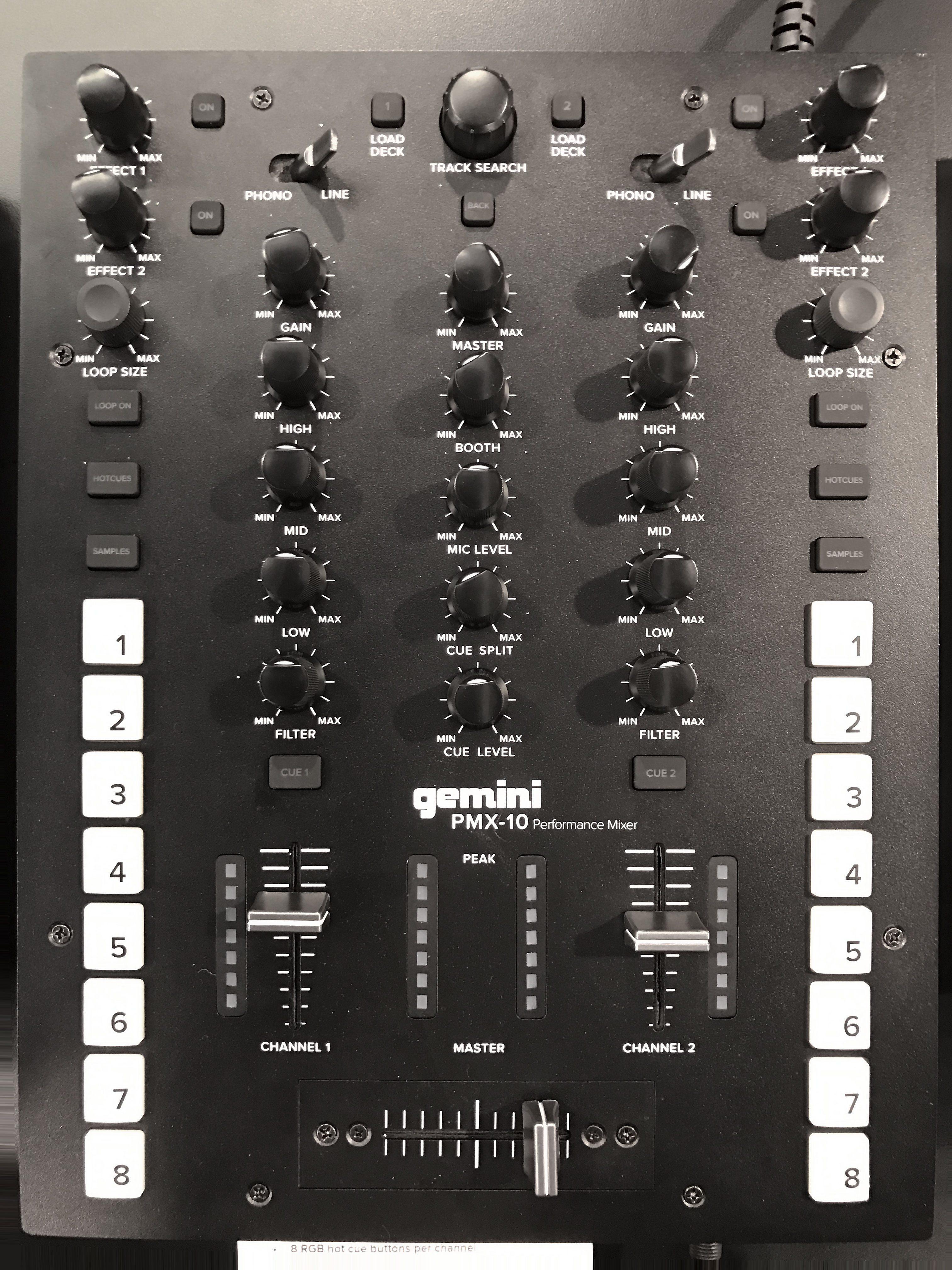 Gemini PMX 10 mixer midi
