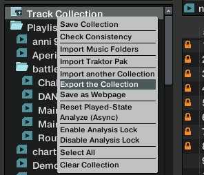 Export Collections Traktor
