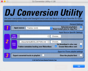 Deejay conversion Traktor to Rekordbox