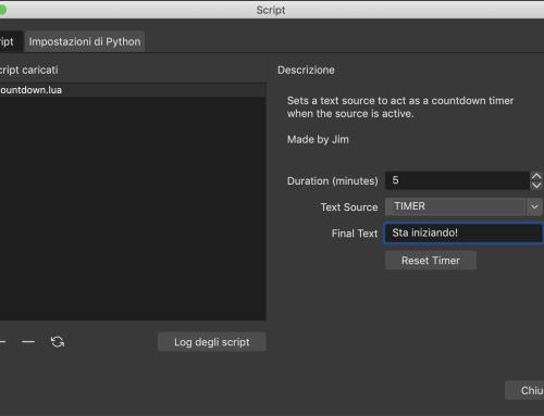 OBS Studio modalità avanzata 2