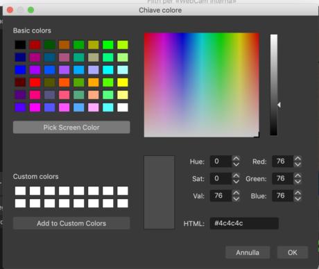 Obs Studio Plette Colori
