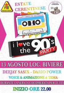 I Love The 90's Party - Località Biviere, Cerenzia